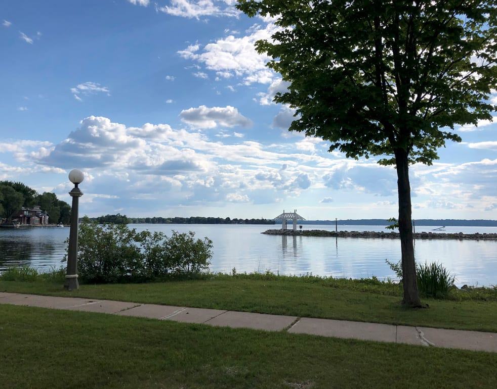 view of lake from bayshore cottage